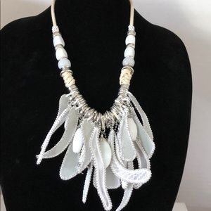 Chico's white and natural necklace